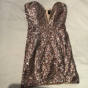 Pink Sequin Nasty Gal dress